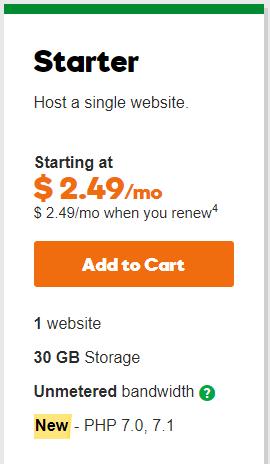 Starter Linux Hosting Plan